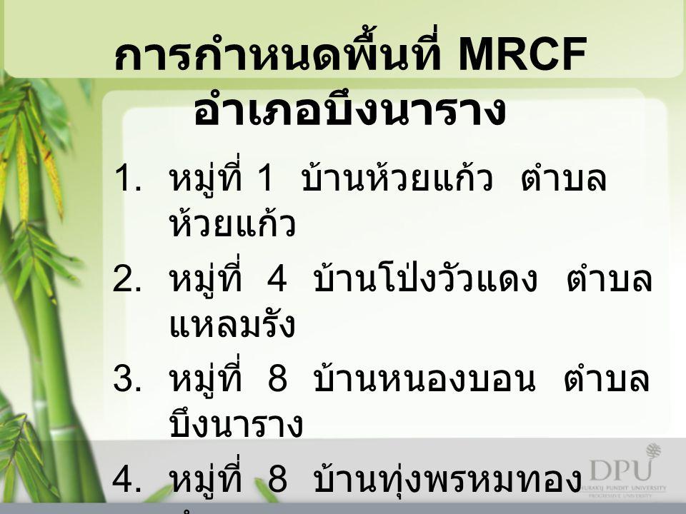 การกำหนดพื้นที่ MRCF อำเภอบึงนาราง