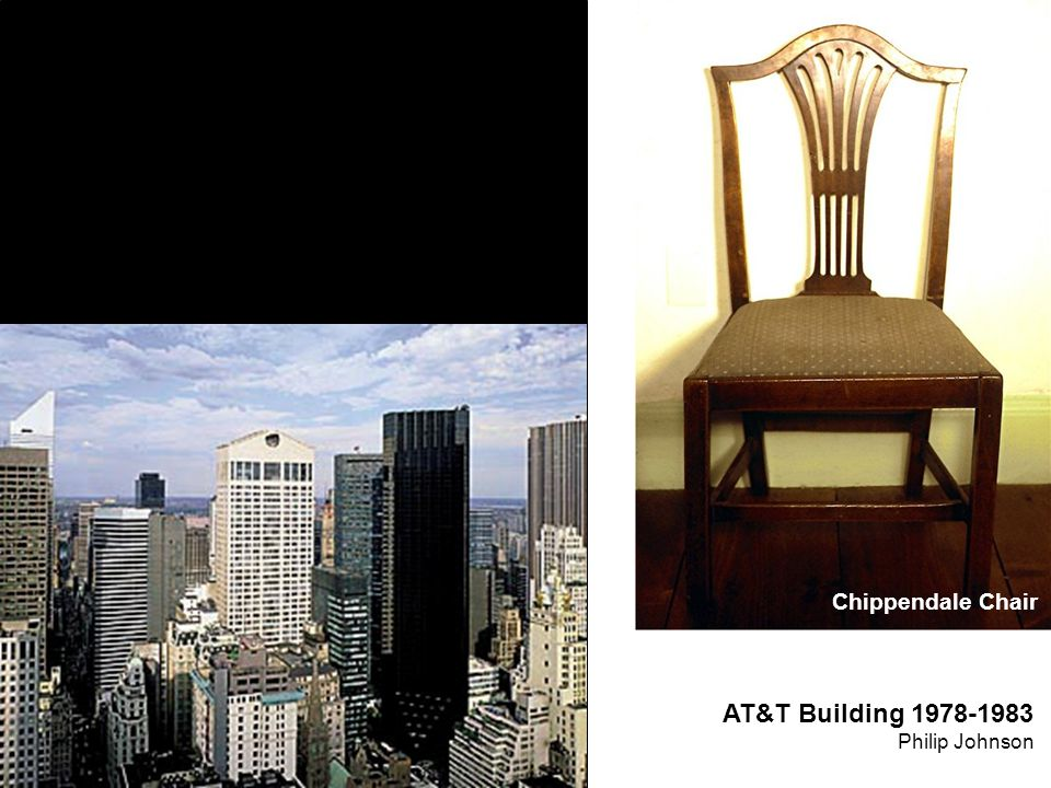 Chippendale Chair AT&T Building 1978-1983 Philip Johnson