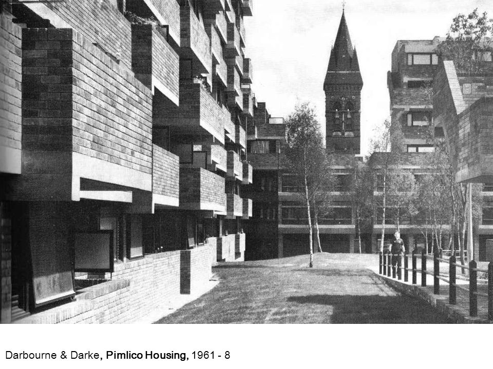 Darbourne & Darke, Pimlico Housing, 1961 - 8