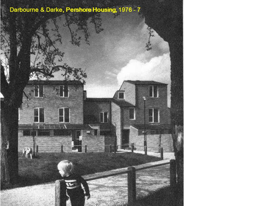 Darbourne & Darke, Pershore Housing, 1976 - 7