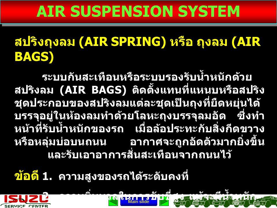 AIR SUSPENSION SYSTEM สปริงถุงลม (AIR SPRING) หรือ ถุงลม (AIR BAGS)