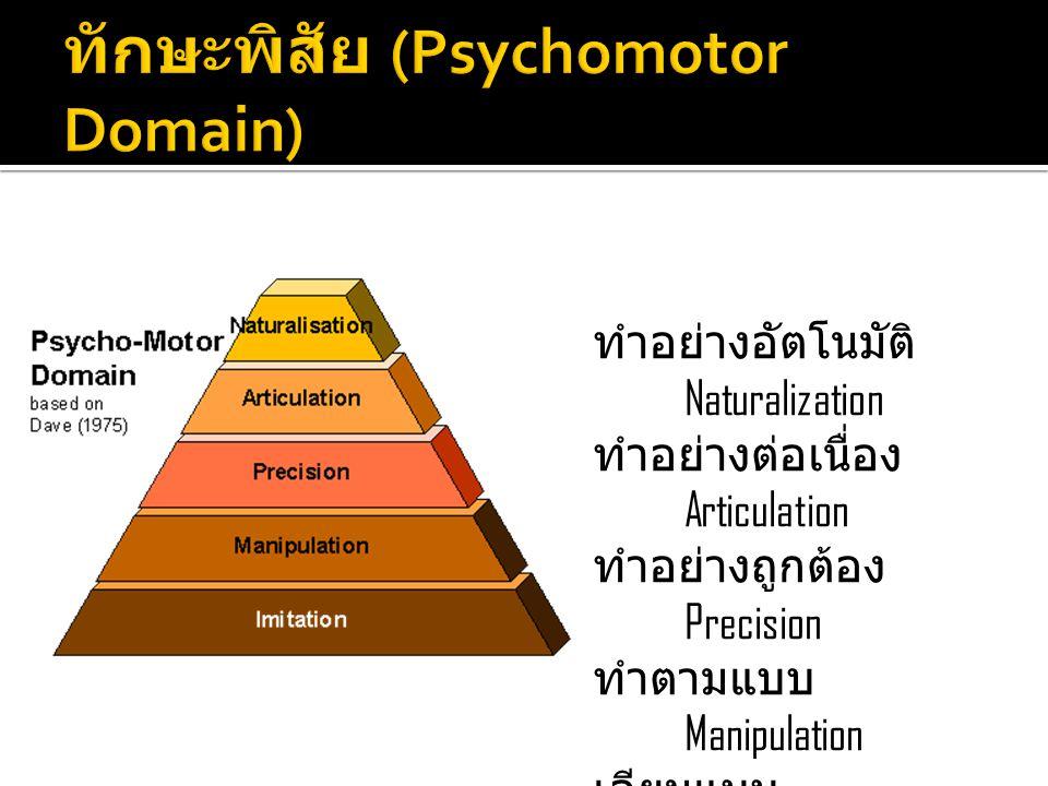 ทักษะพิสัย (Psychomotor Domain)
