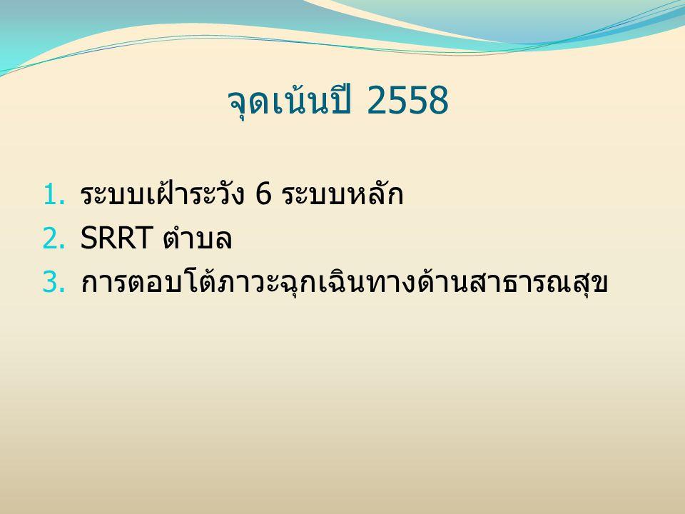 จุดเน้นปี 2558 ระบบเฝ้าระวัง 6 ระบบหลัก SRRT ตำบล