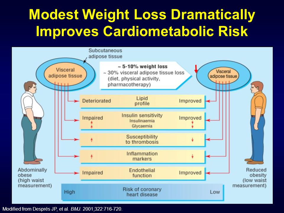 Modest Weight Loss Dramatically Improves Cardiometabolic Risk