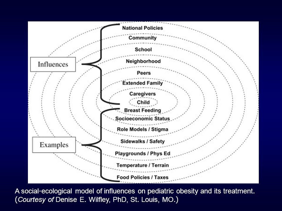 A social-ecological model of influences on pediatric obesity and its treatment.