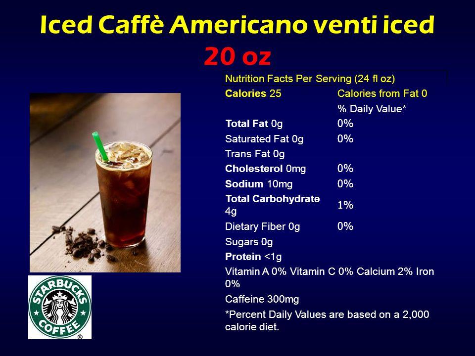 Iced Caffè Americano venti iced 20 oz