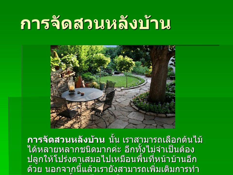 การจัดสวนหลังบ้าน