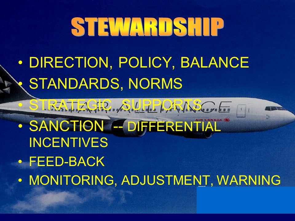 DIRECTION, POLICY, BALANCE STANDARDS, NORMS STRATEGIC SUPPORTS