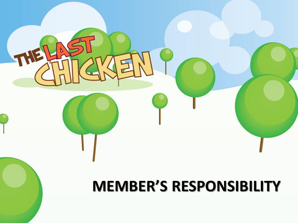 Member's responsibility