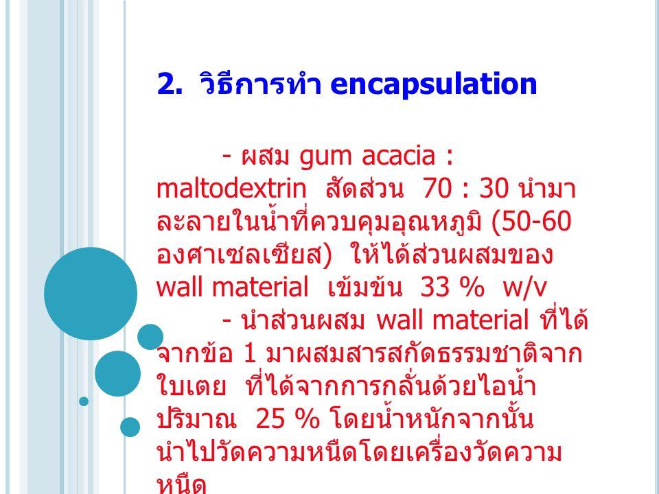 2. วิธีการทำ encapsulation