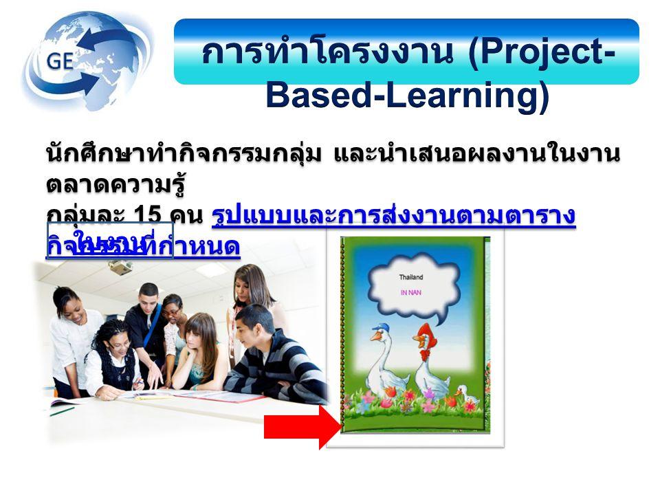 การทำโครงงาน (Project-Based-Learning)
