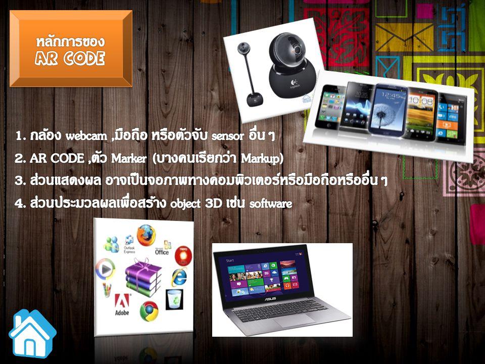1. กล้อง webcam ,มือถือ หรือตัวจับ sensor อื่นๆ