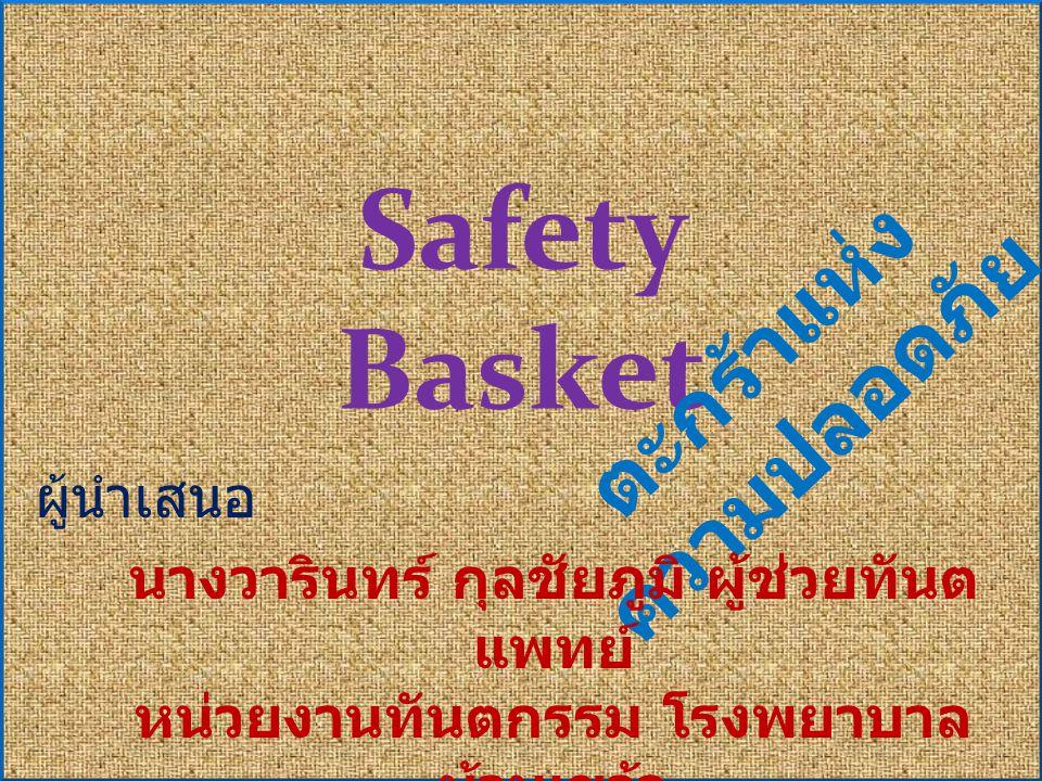 Safety Basket ตะกร้าแห่งความปลอดภัย ผู้นำเสนอ