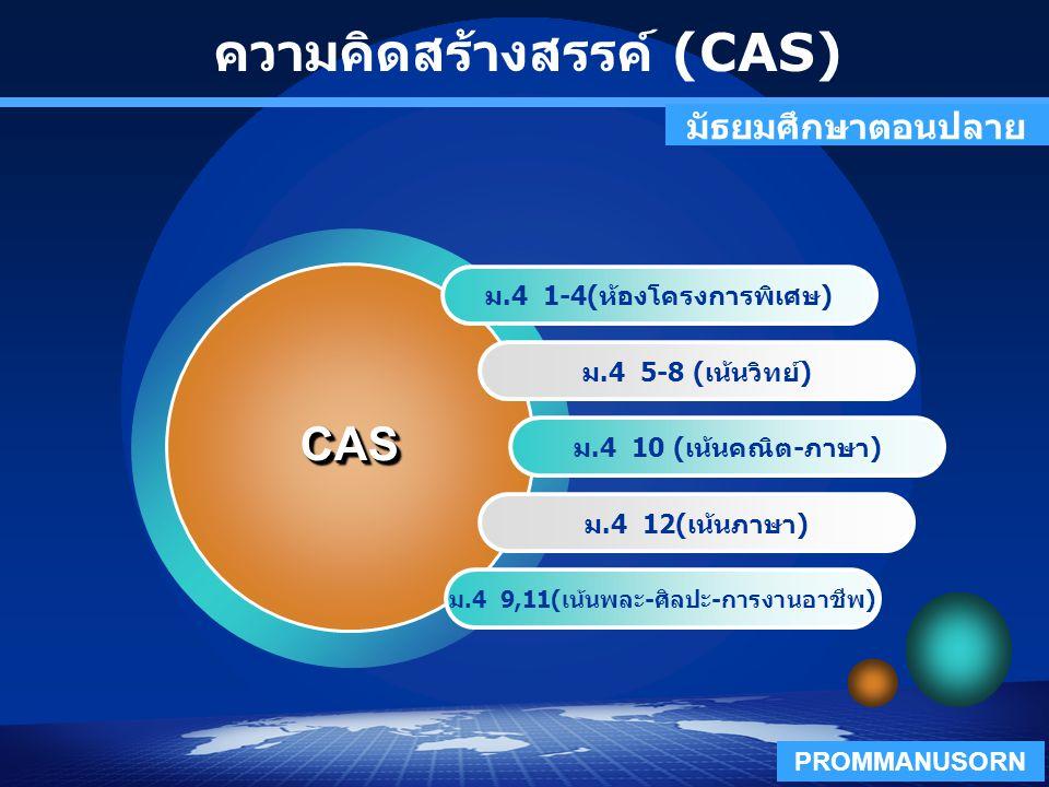 ความคิดสร้างสรรค์ (CAS)