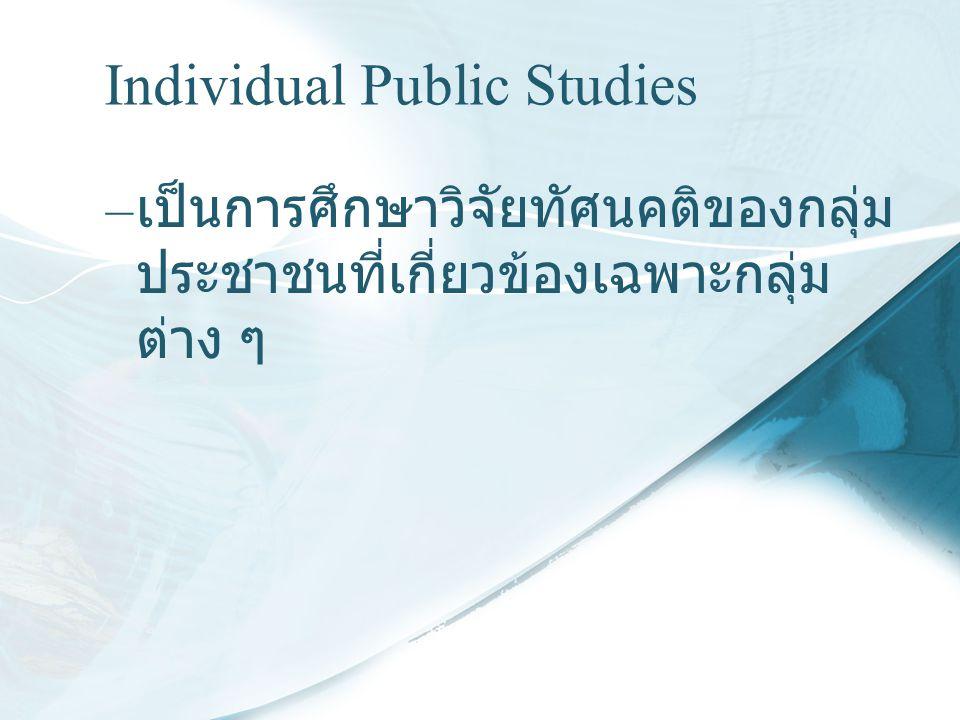 Individual Public Studies