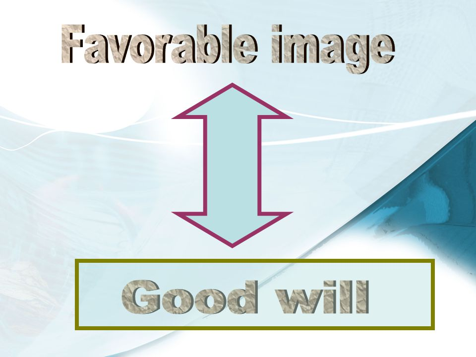 Favorable image Good will