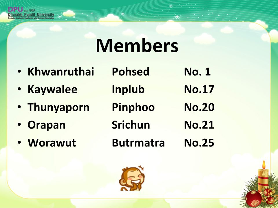 Members Khwanruthai Pohsed No. 1 Kaywalee Inplub No.17