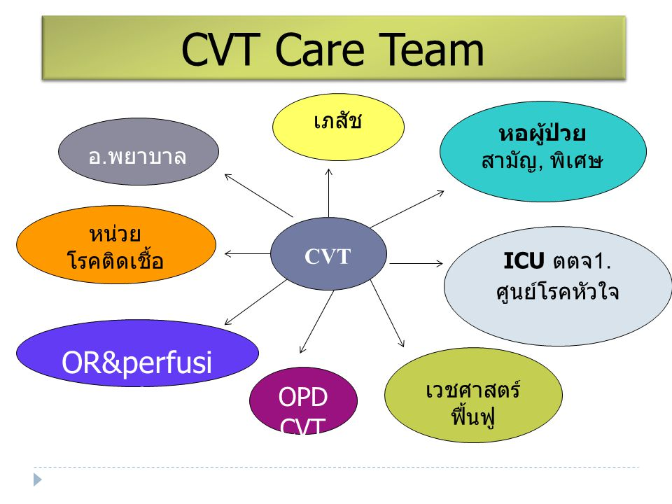 CVT Care Team OR&perfusionist OPD CVT เภสัช หอผู้ป่วย อ.พยาบาล