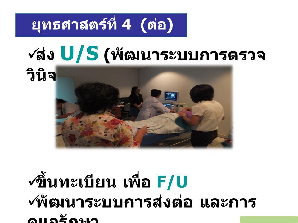 ส่ง U/S (พัฒนาระบบการตรวจวินิจฉัยโดยใช้ U/S)