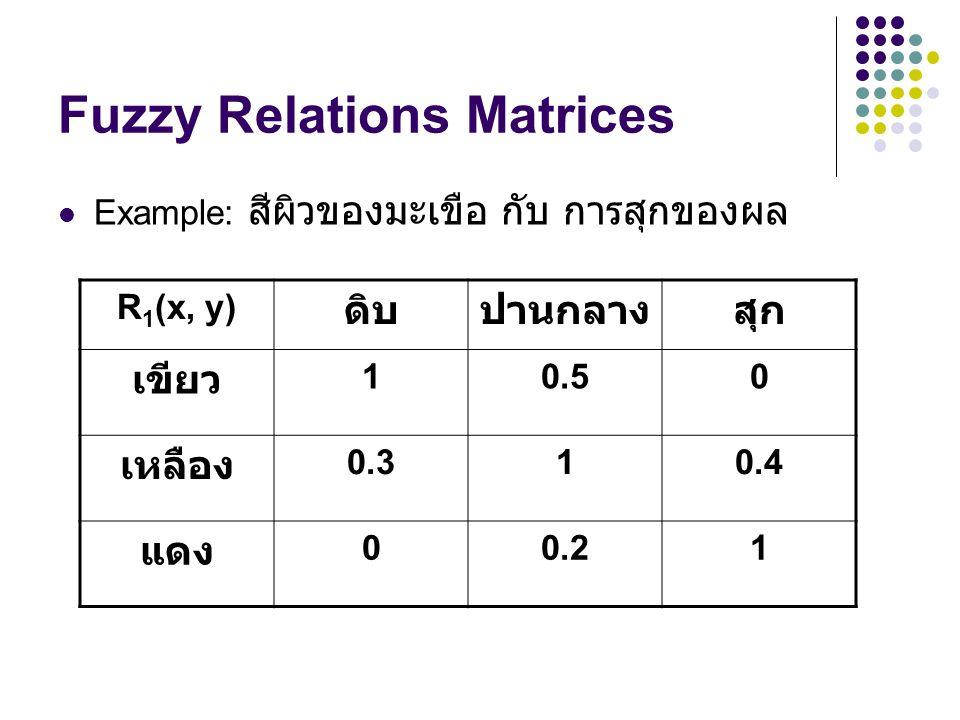 Fuzzy Relations Matrices