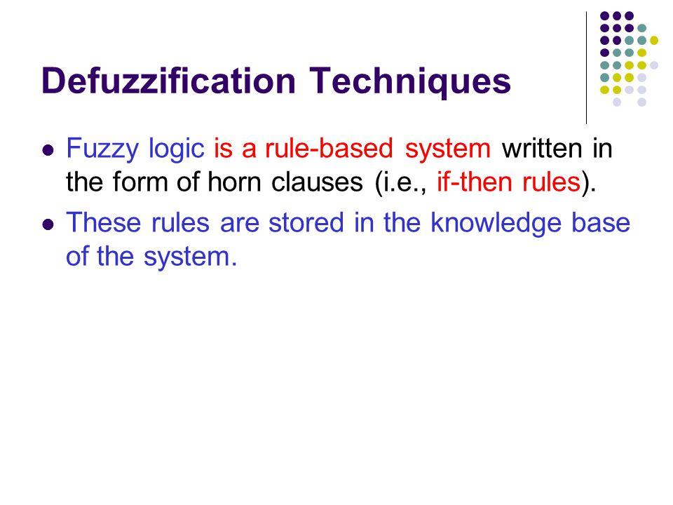 Defuzzification Techniques
