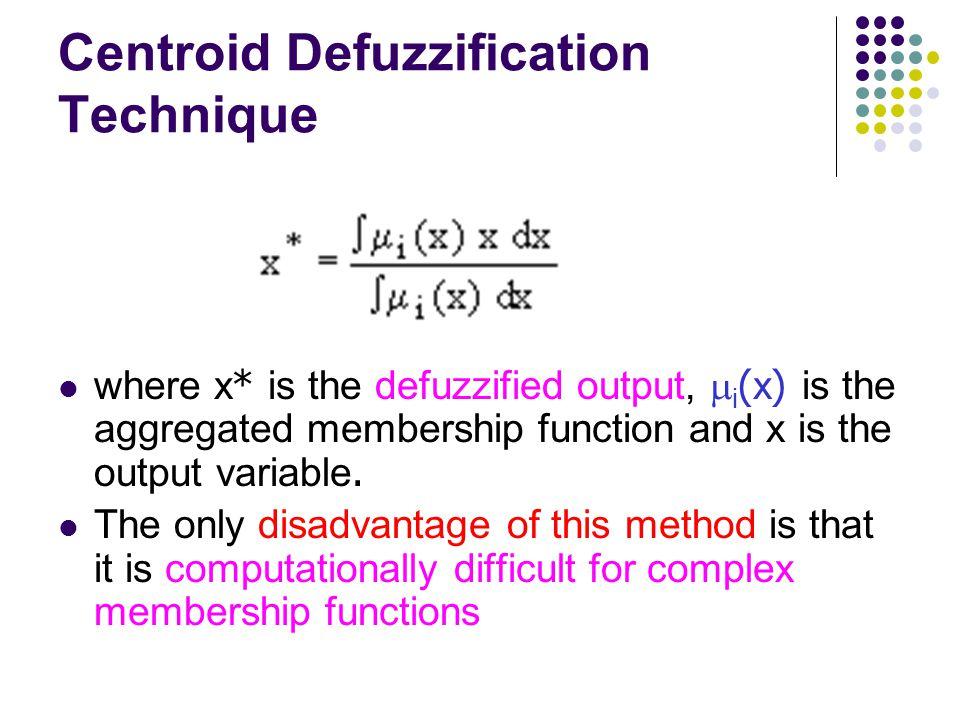 Centroid Defuzzification Technique