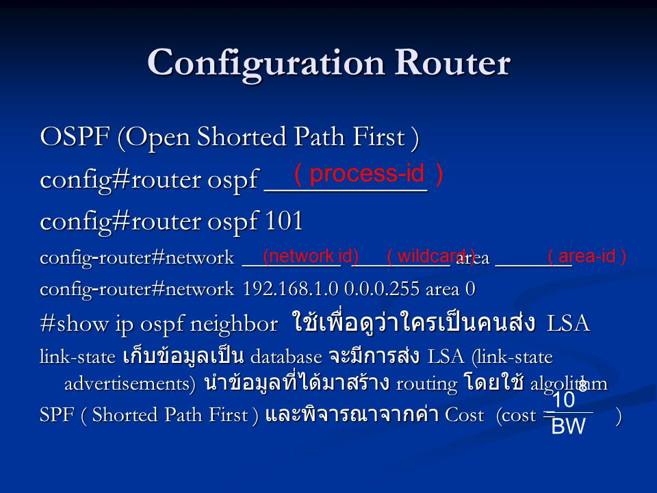 Configuration Router OSPF (Open Shorted Path First )