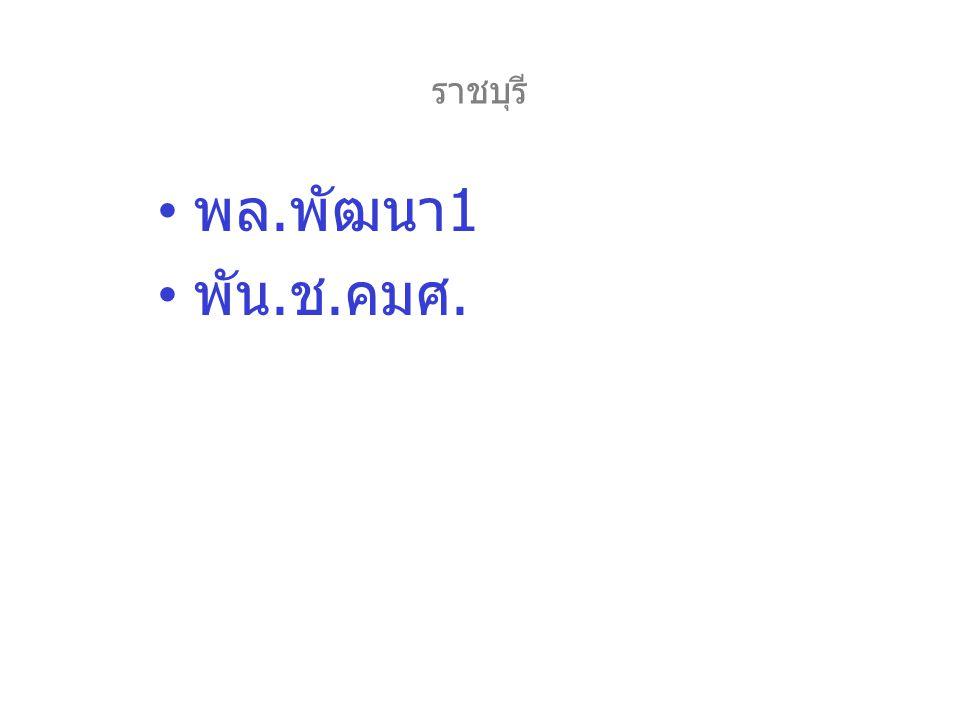 ราชบุรี พล.พัฒนา1 พัน.ช.คมศ.