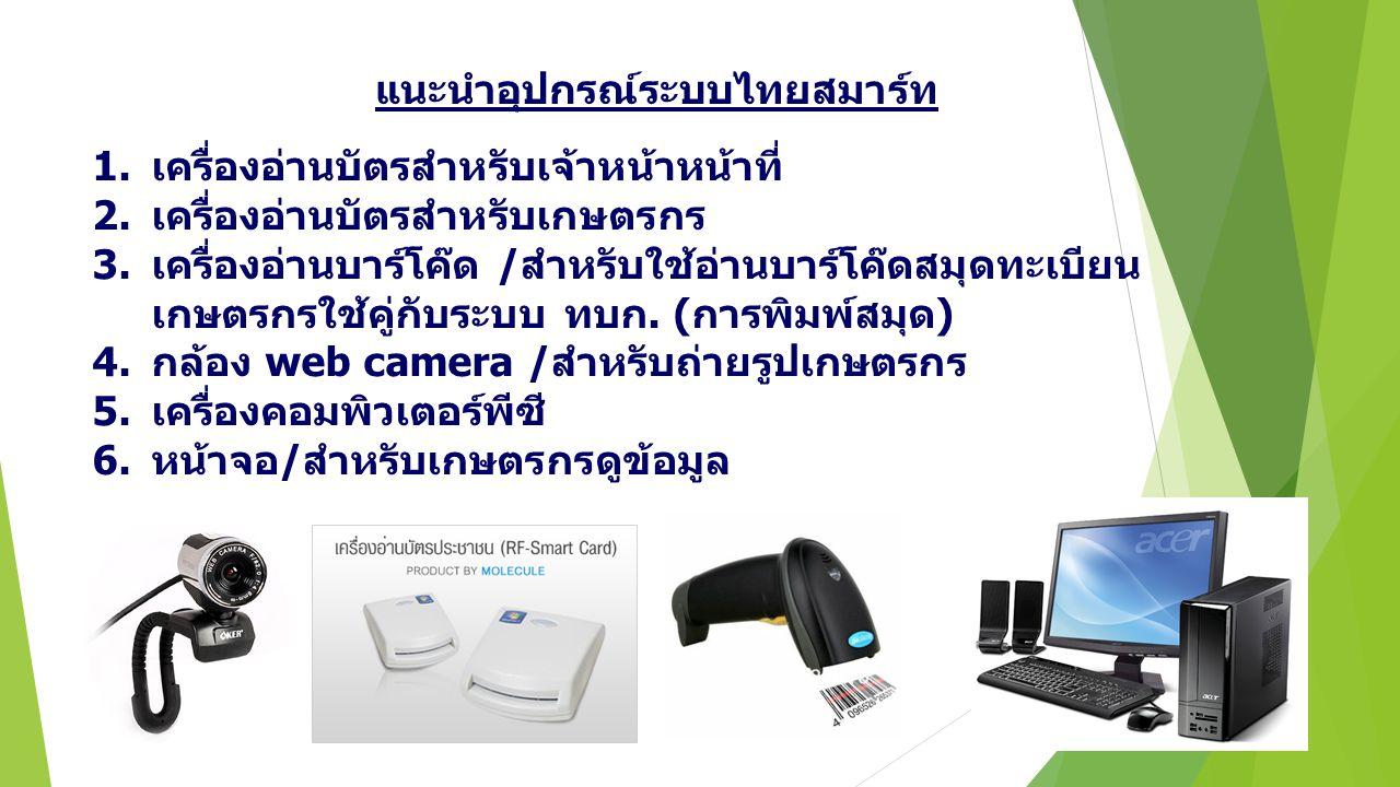 แนะนำอุปกรณ์ระบบไทยสมาร์ท