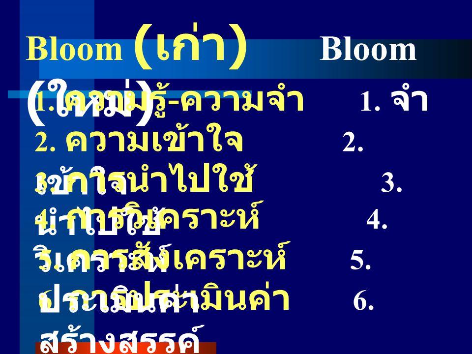 Bloom (เก่า) Bloom (ใหม่)