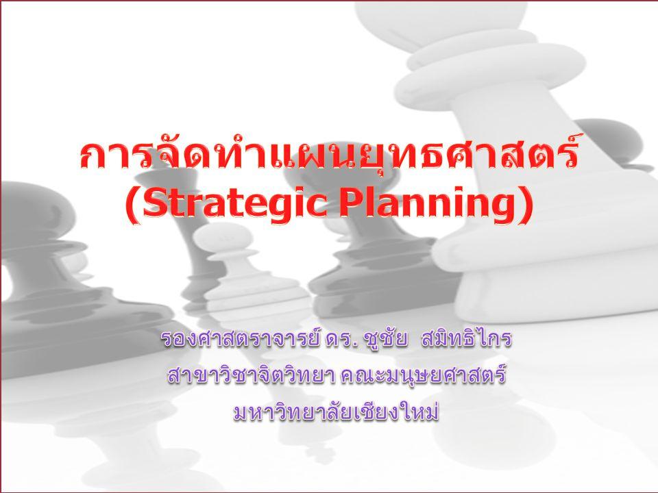 การจัดทำแผนยุทธศาสตร์ (Strategic Planning)