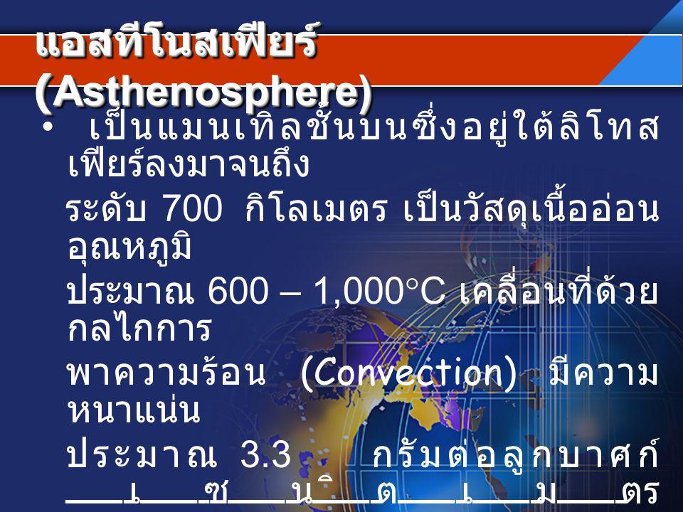 แอสทีโนสเฟียร์ (Asthenosphere)
