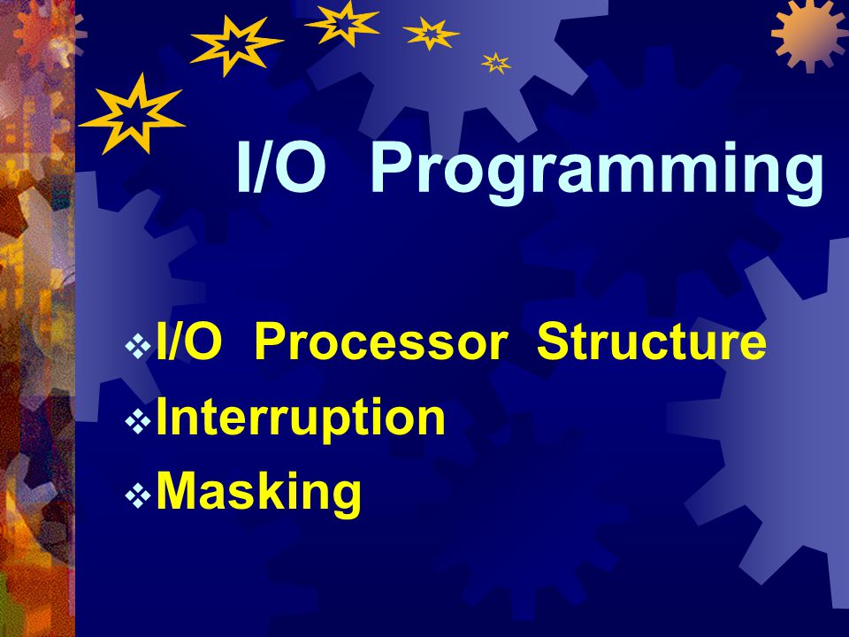 I/O Processor Structure Interruption Masking