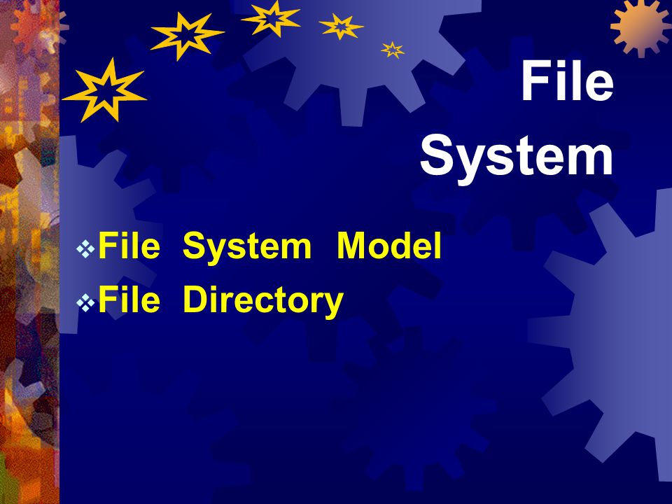 File System Model File Directory