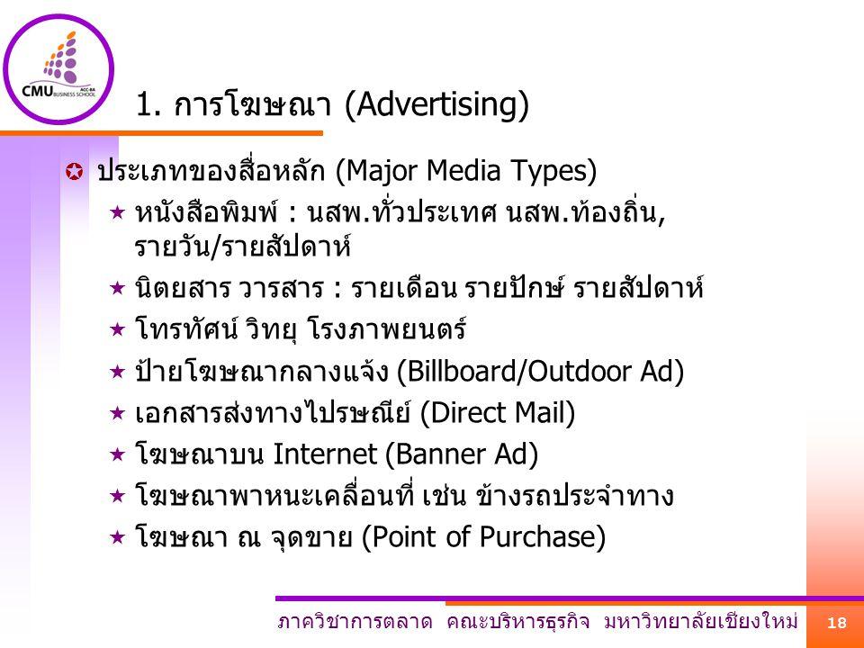1. การโฆษณา (Advertising)