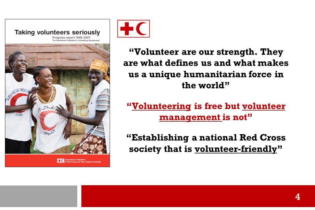 รายงานและข้อเสนอแนะเพื่อการพัฒนาระบบอาสาสมัครโดย IFRC