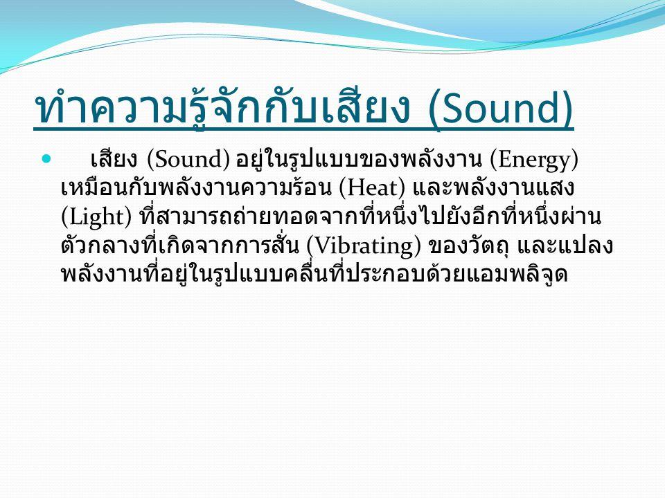 ทำความรู้จักกับเสียง (Sound)