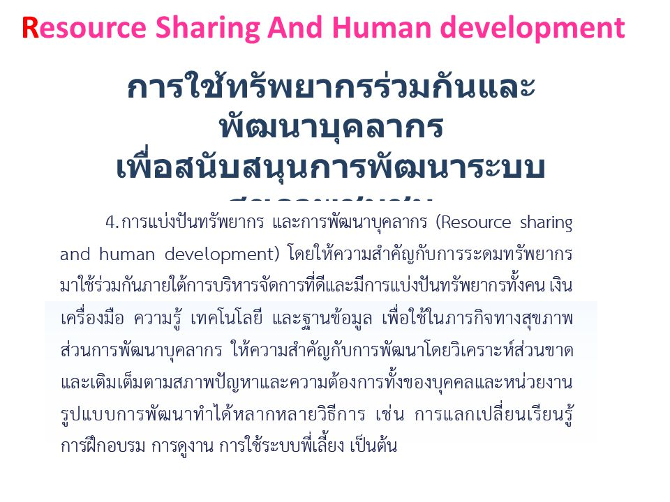 Resource Sharing And Human development
