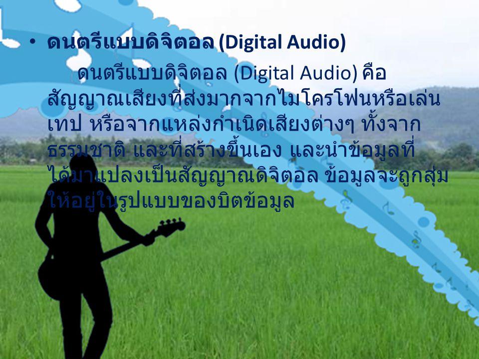 ดนตรีแบบดิจิตอล (Digital Audio)