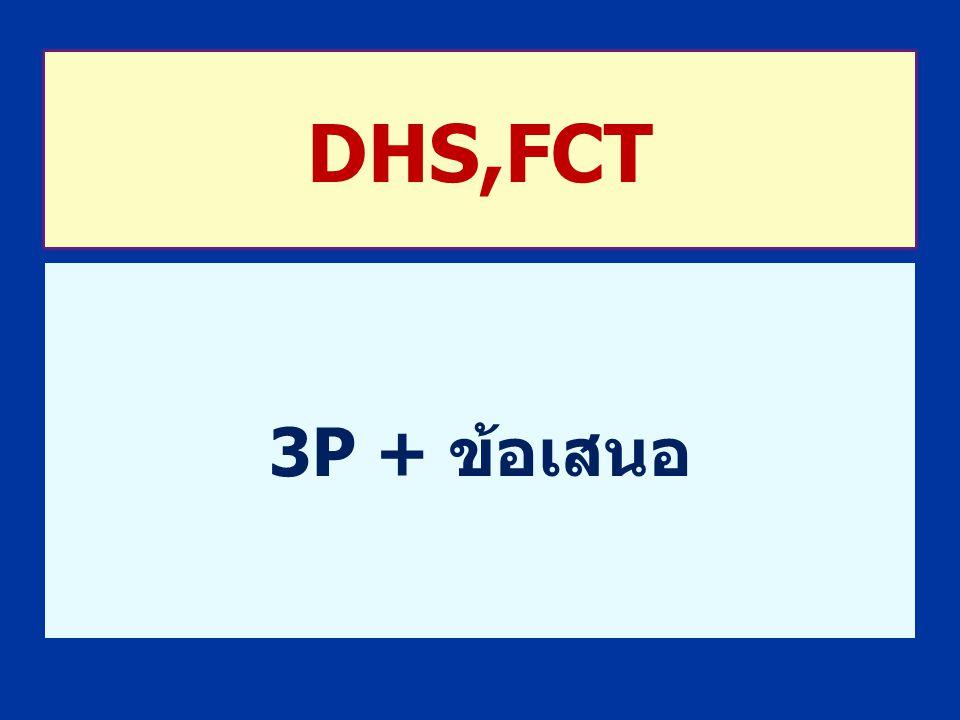 DHS,FCT 3P + ข้อเสนอ