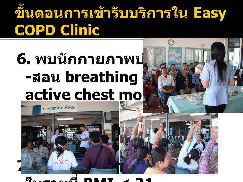 ขั้นตอนการเข้ารับบริการใน Easy COPD Clinic