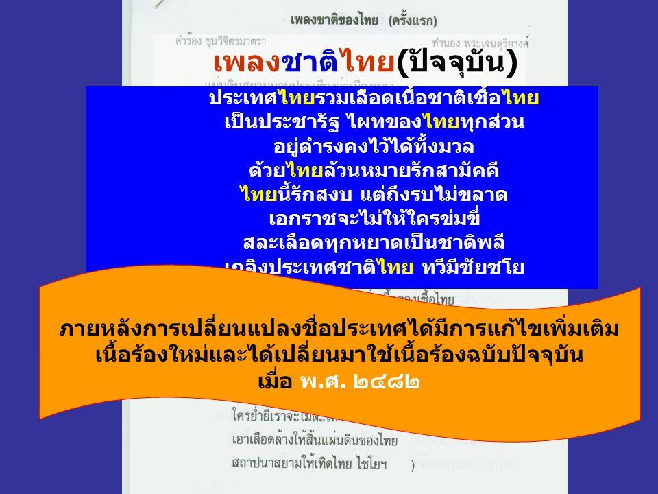 เพลงชาติไทย(ปัจจุบัน)