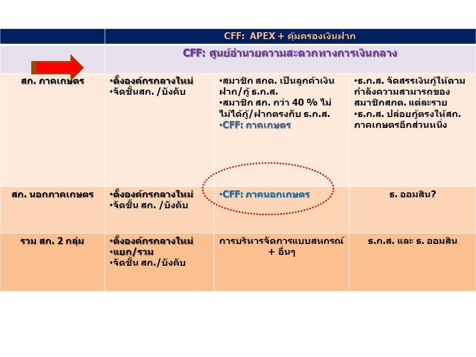 CFF: ศูนย์อำนวยความสะดวกทางการเงินกลาง