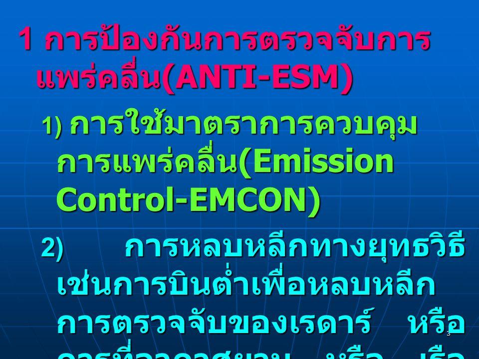 1 การป้องกันการตรวจจับการแพร่คลื่น(ANTI-ESM)
