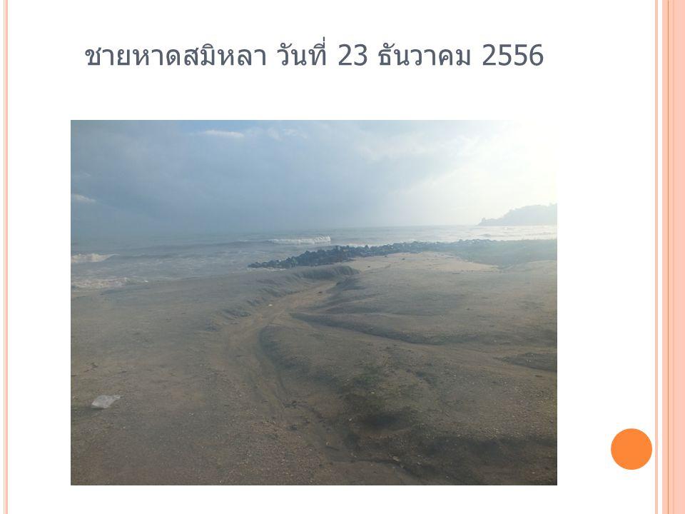 ชายหาดสมิหลา วันที่ 23 ธันวาคม 2556