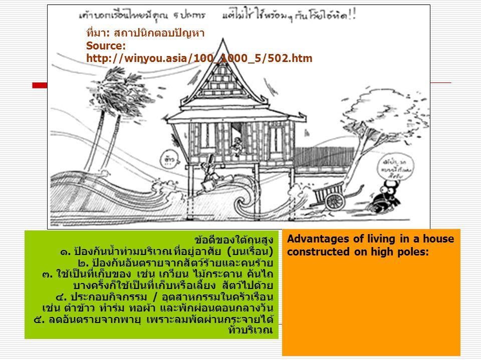 ที่มา: สถาปนิกตอบปัญหา Source: http://winyou.asia/100_1000_5/502.htm