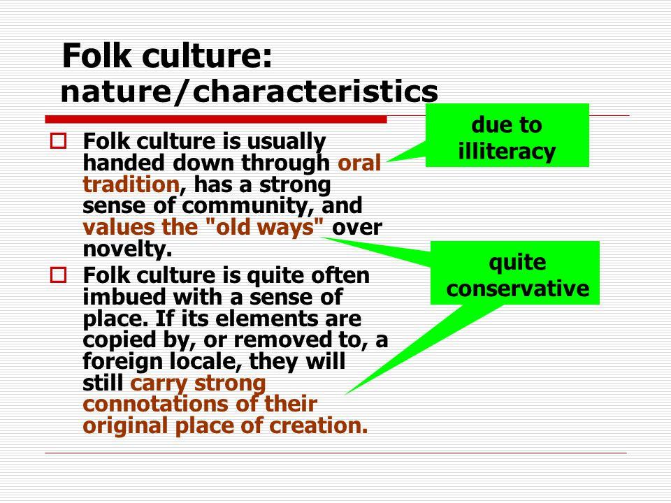 nature/characteristics