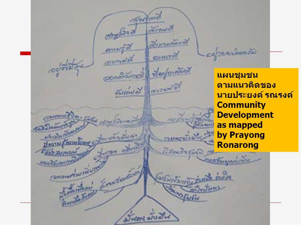 แผนชุมชน ตามแนวคิดของ นายประยงค์ รณรงค์ Community Development