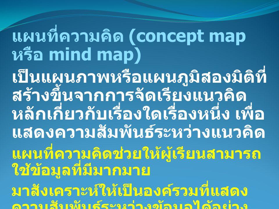 แผนที่ความคิด (concept map หรือ mind map)