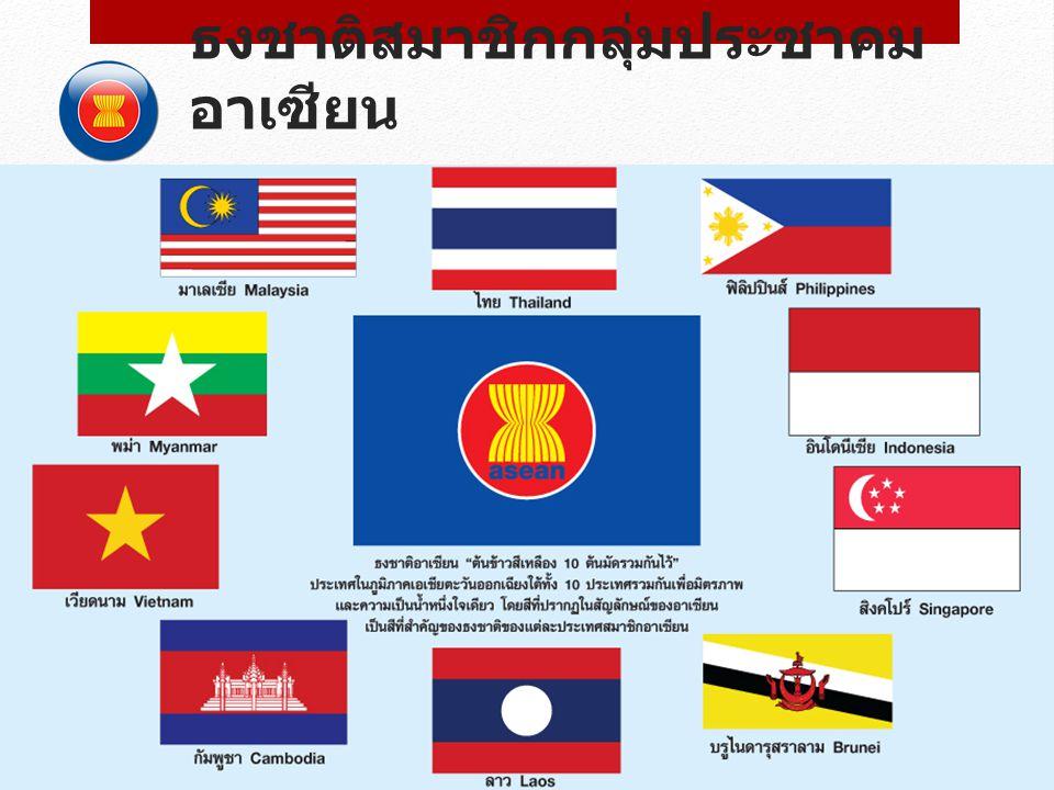 ธงชาติสมาชิกกลุ่มประชาคมอาเซียน